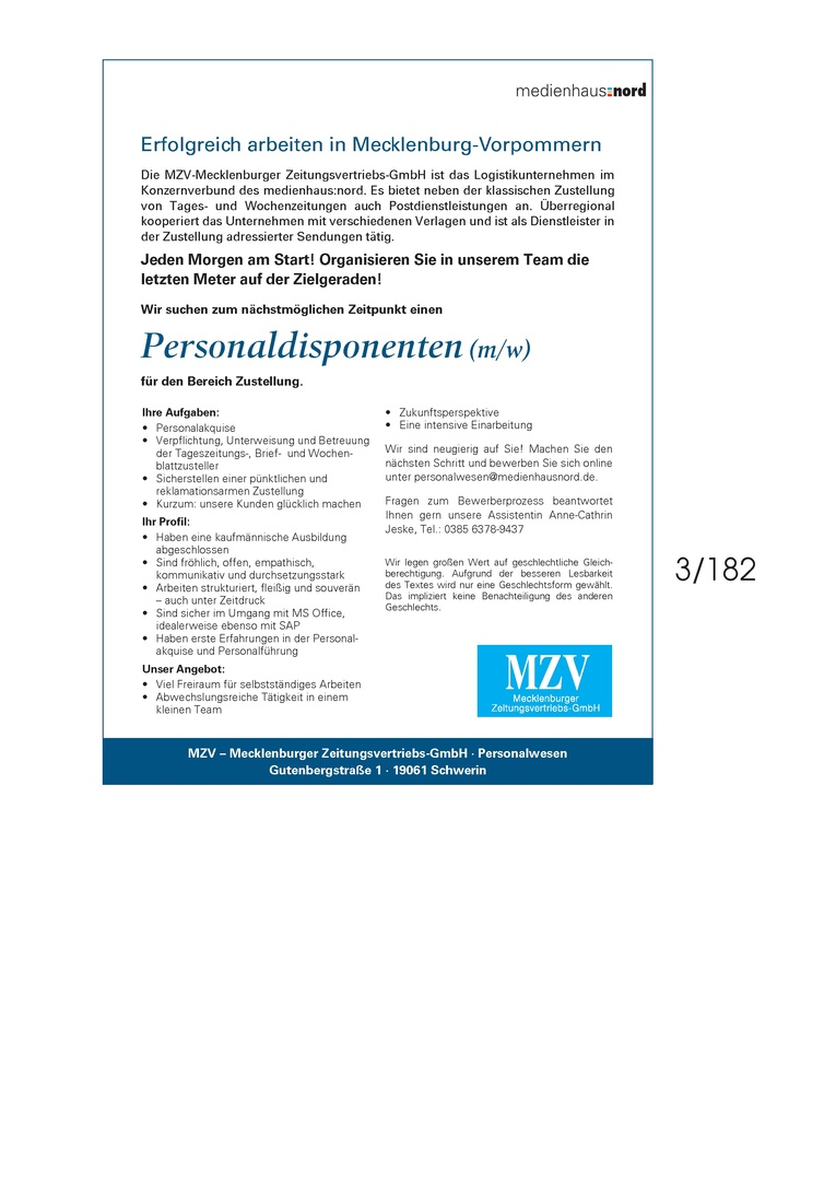 Personaldisponenten (m/w)