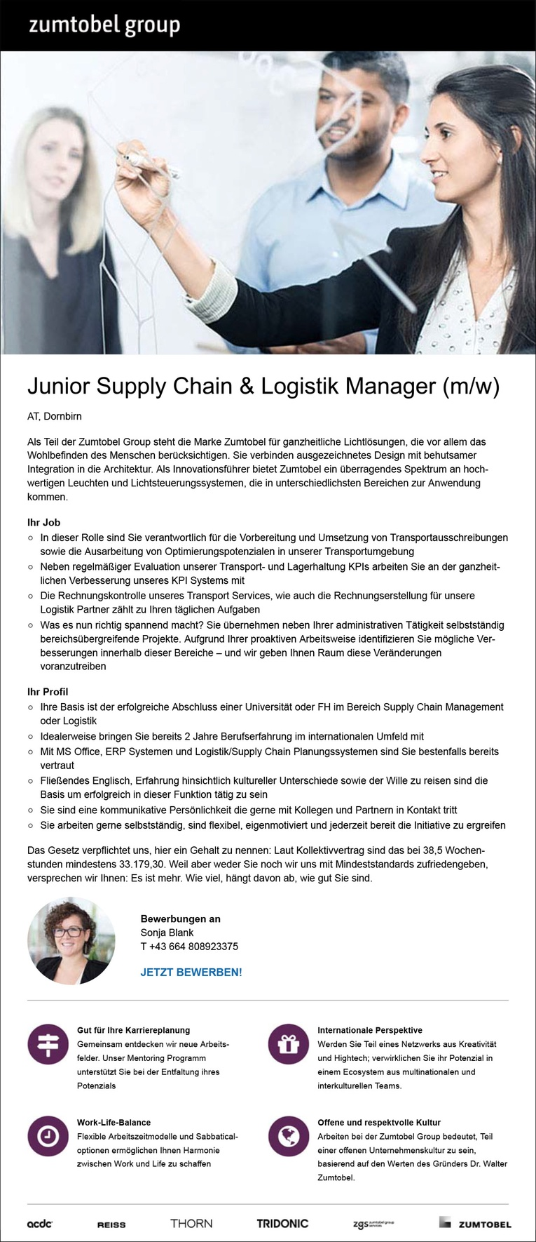 Junior Supply Chain & Logistik Manager (m/w) in Dornbirn