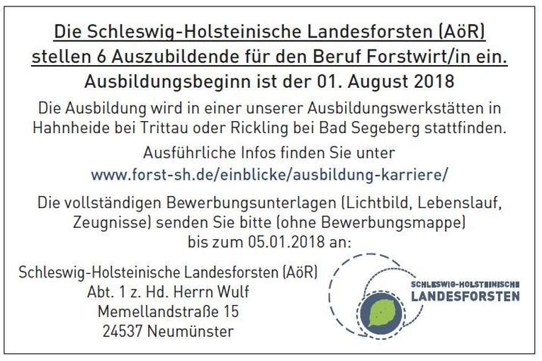 6 Auszubildende für den Beruf Forstwirt/in in Hahnheide bei Trittau oder