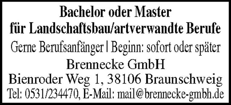 Bachelor oder Master (m/w) Landschaftsbau
