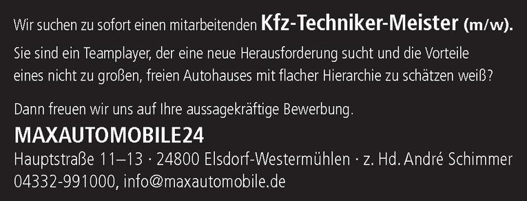 Kfz-Techniker-Meister (m/w)