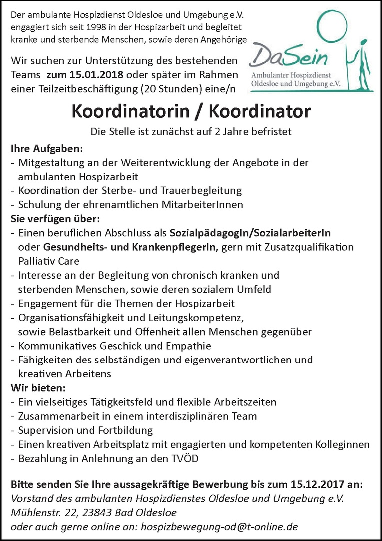 Koordinatorin / Koordinator