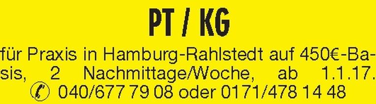 PT / KG (m/w)