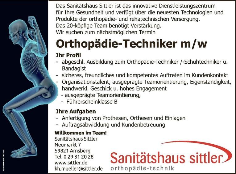 Orthopädietechniker m/w