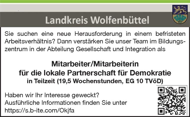 Mitarbeiter/Mitarbeiterin für die lokale Partnerschaft für Demokratie