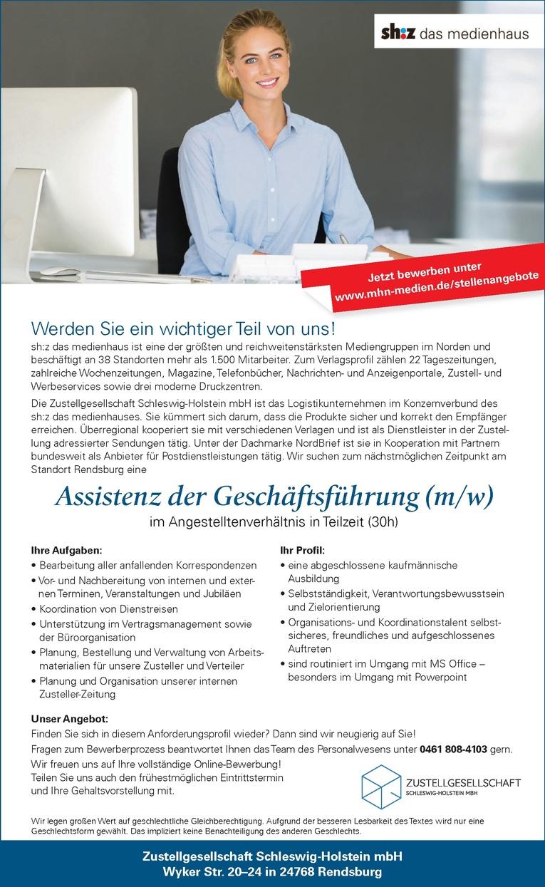 Assistenz der Geschäftsführung (m/w)