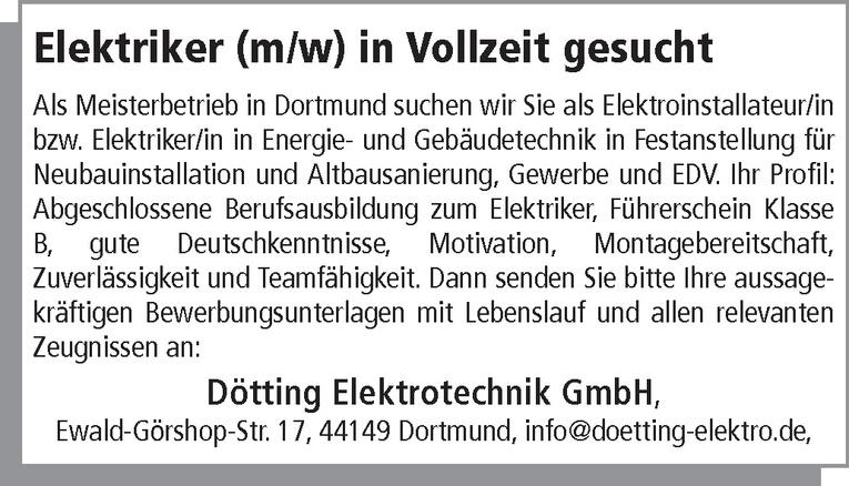 Elektriker (m/w)