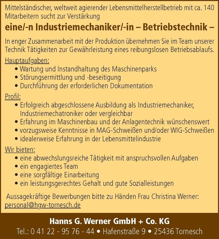 Industriemechaniker/-in