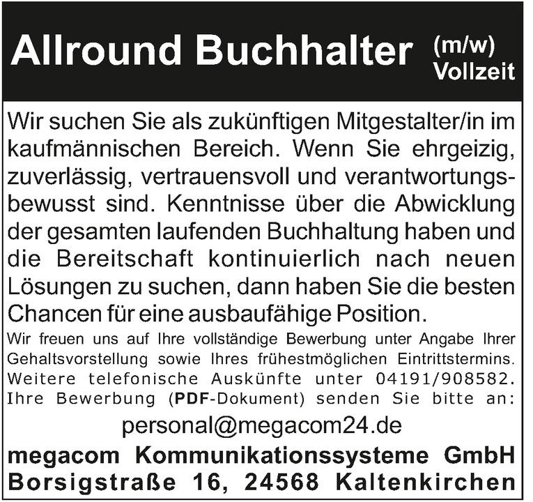 Buchhalter (m/w) Teil-/Vollzeit