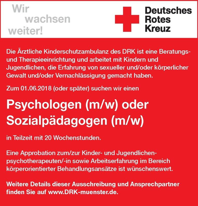 Psychologen (m/w) / Sozialpädagogen (m/w)