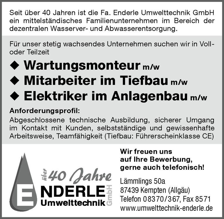 Elektriker im Anlagenbau m/w