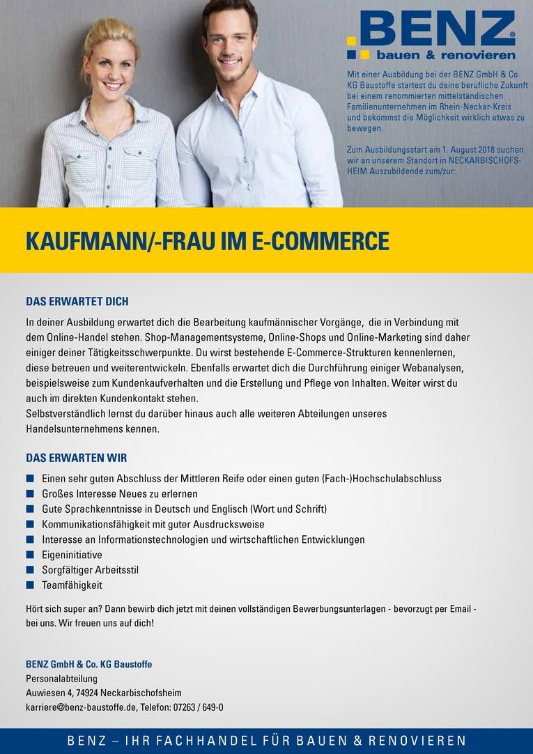 Ausbildung: Kaufmann/-frau im E-Commerce