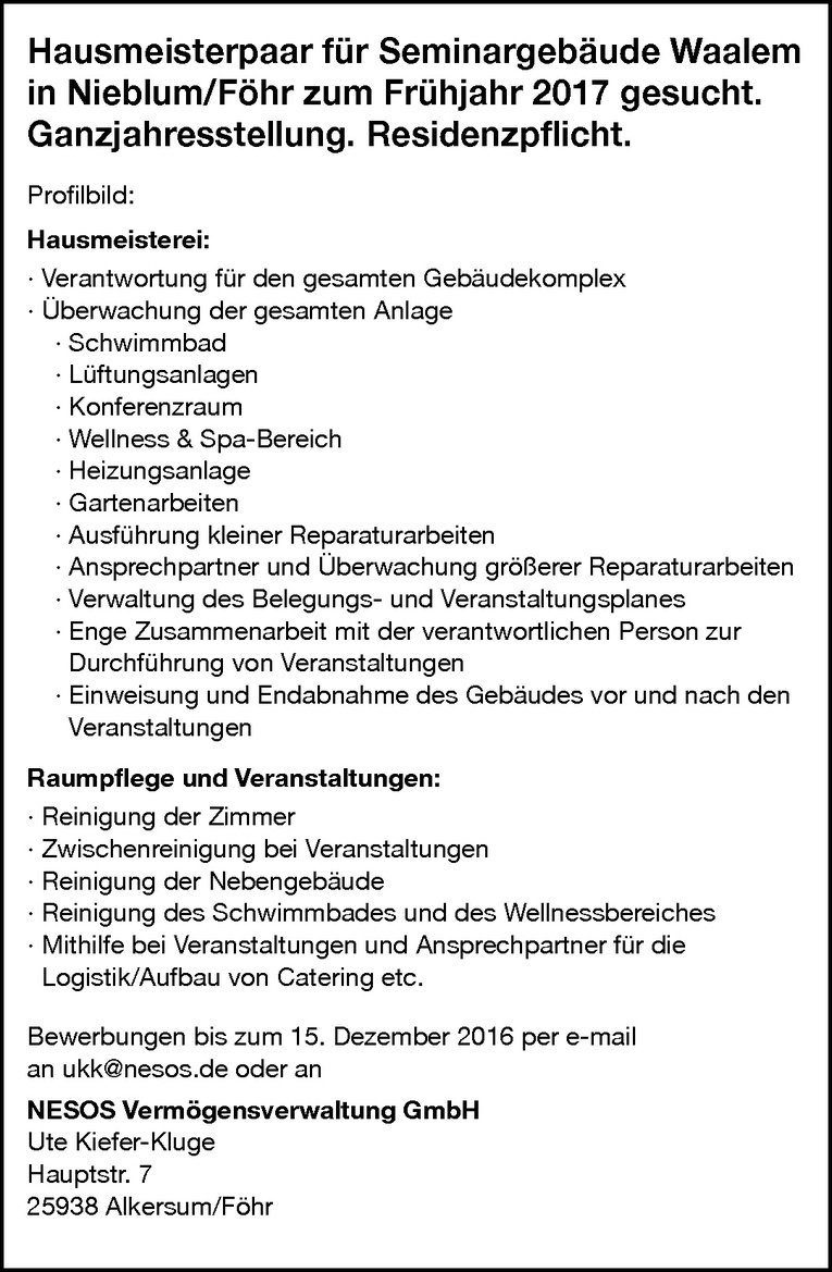 Haumeister (m/w)