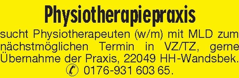 Physiotherapeuten (w/m)