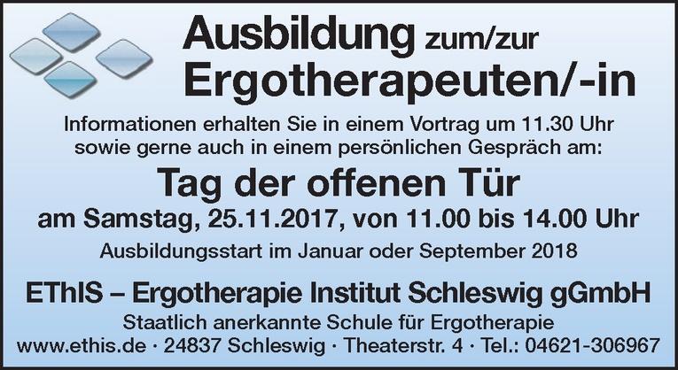 Ausbildung zum/zur Ergotherapeuten/-in
