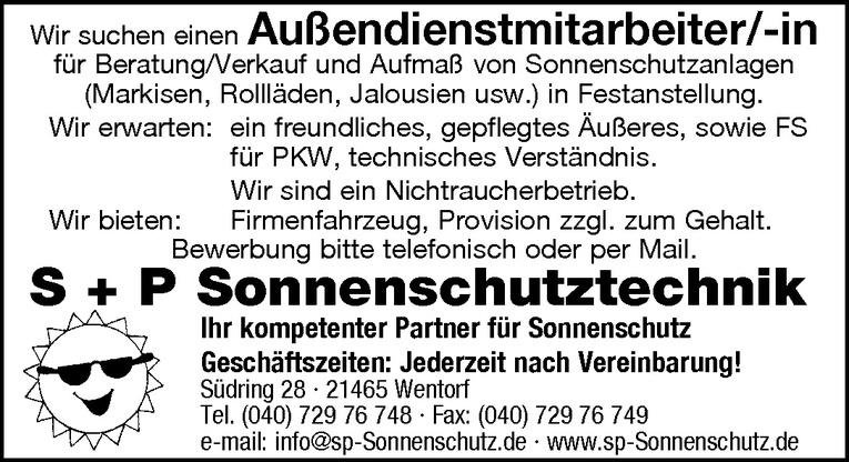 Außendienstmitarbeiter/-in
