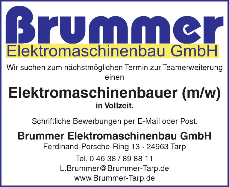 Elektromaschinenbauer (m/w)