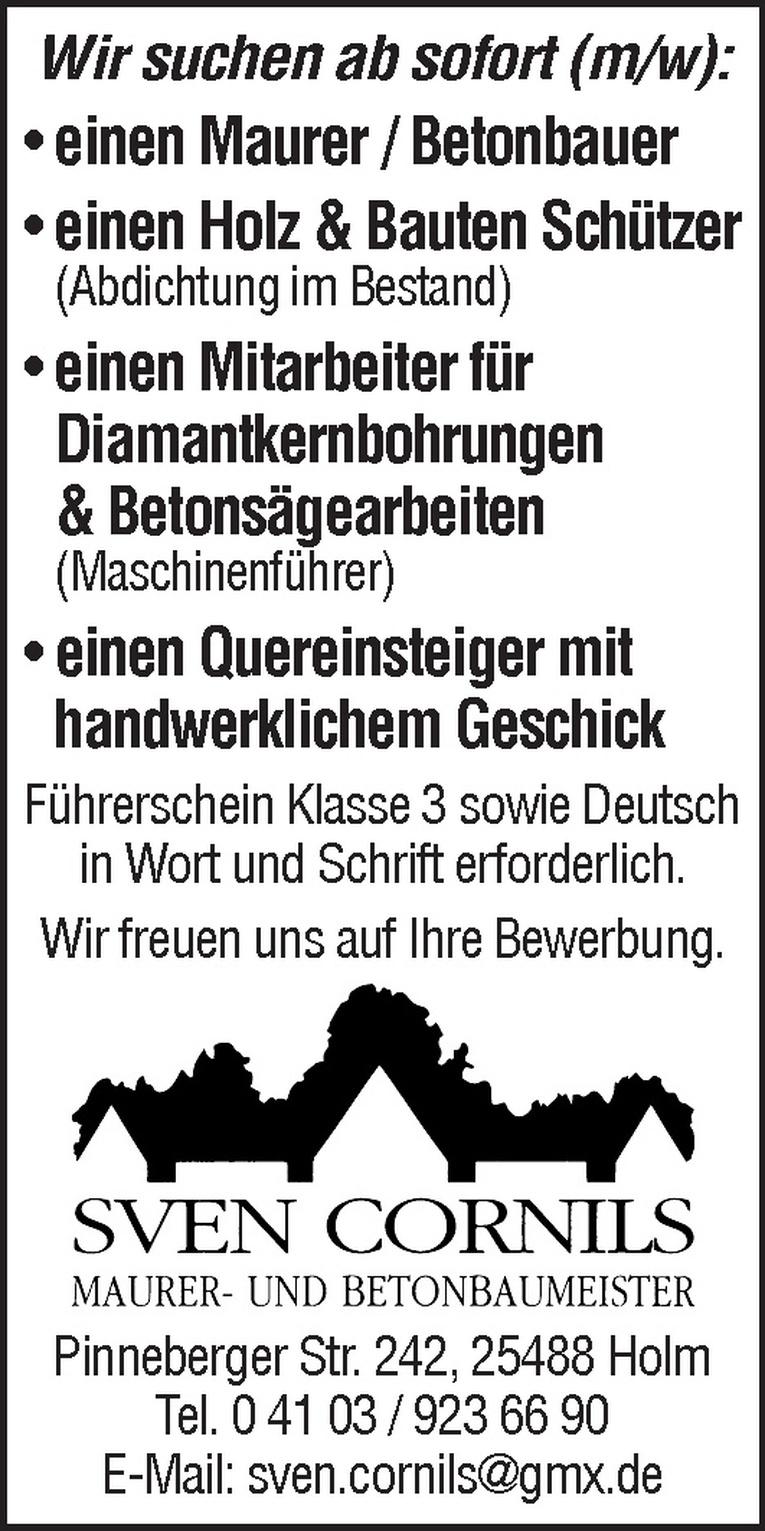 Maurer / Betonbauer (m/w)