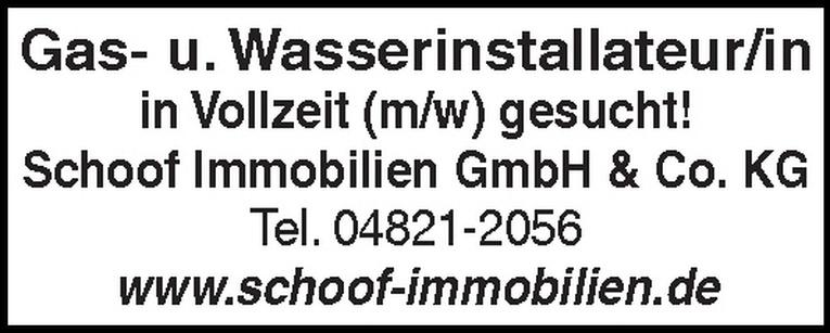 Gas- u. Wasserinstallateur/in (m/w)