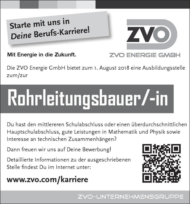 Ausbildungsstelle zum/zur Rohrleitungsbauer/-in