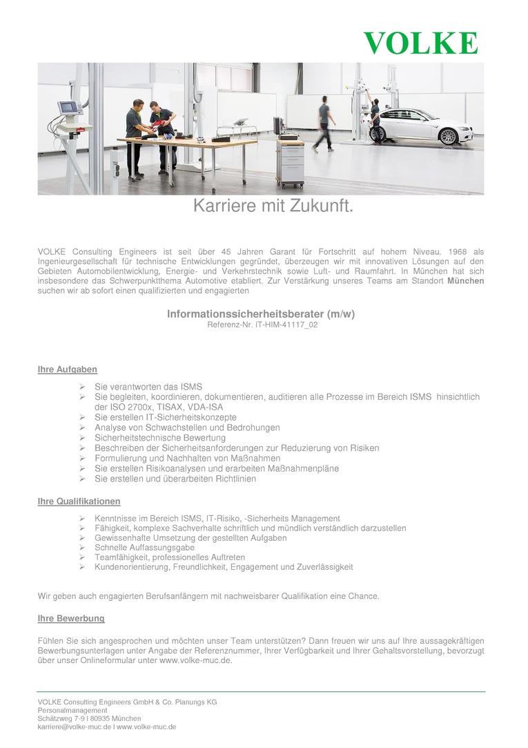 Informationssicherheitsberater (m/w)