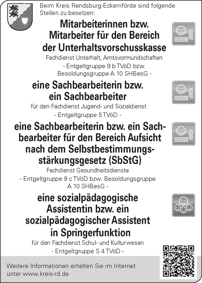 Mitarbeiterinnen / Mitarbeiter Bereich der Unterhaltsvorschusskasse