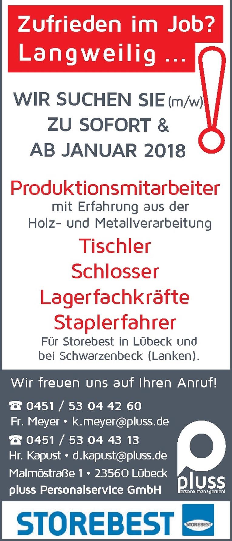 Tischler (w/m)