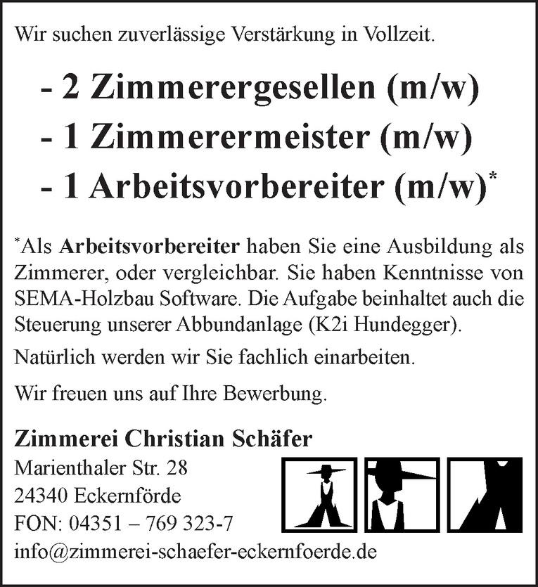 Zimmerergesellen (m/w)