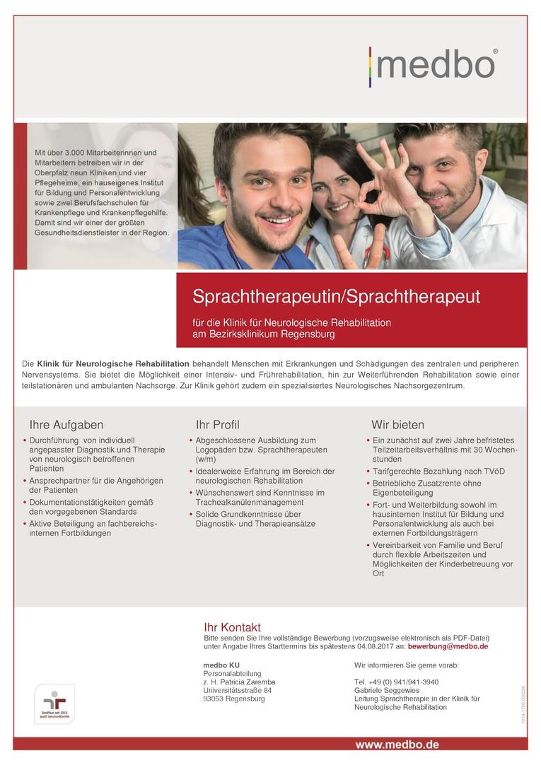 Sprachtherapeutin/Sprachtherapeut