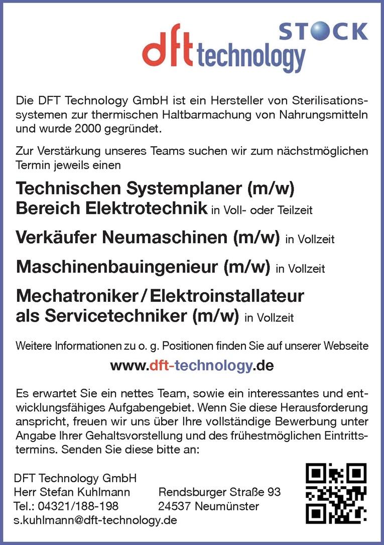 Maschinenbauingenieur (m/w)