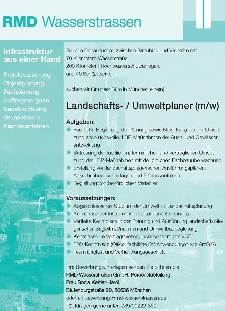 Landschafts- / Umweltplaner (m/w)