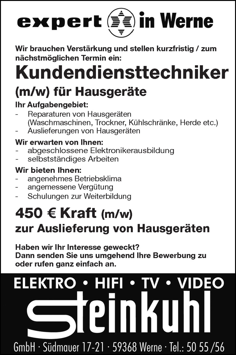 450 € Kraft (m/w)