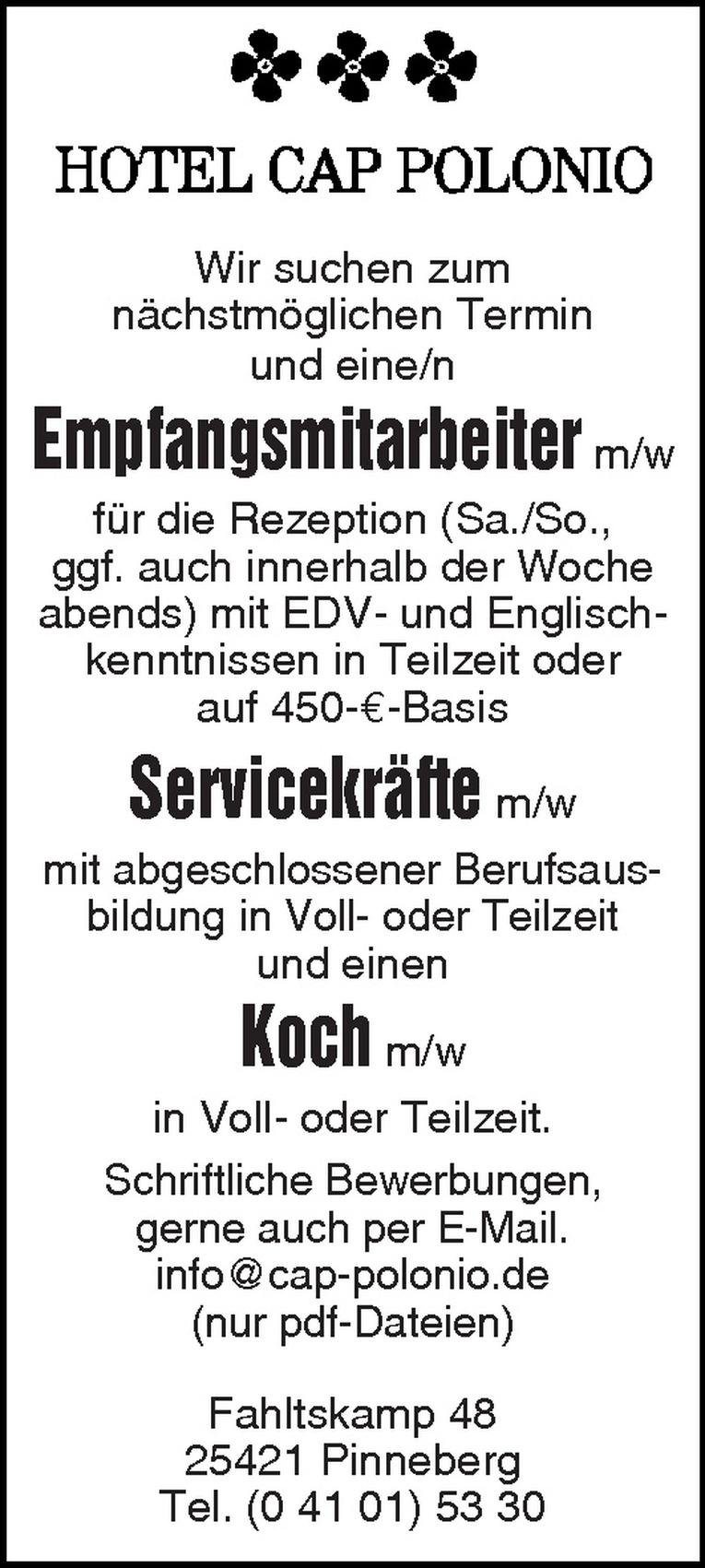 Servicekräfte m/w