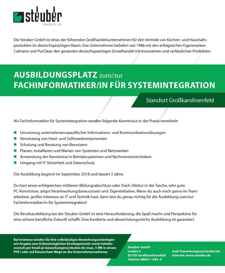 Ausbildungsplatz zum/zur Fachinformatiker/in für Systemintegration