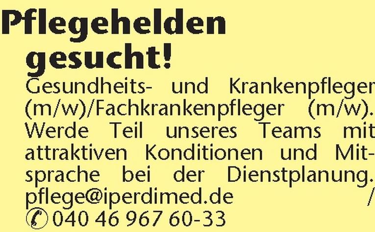 Gesundheits- und Krankenpfleger /Fachkrankenpfleger (m/w).