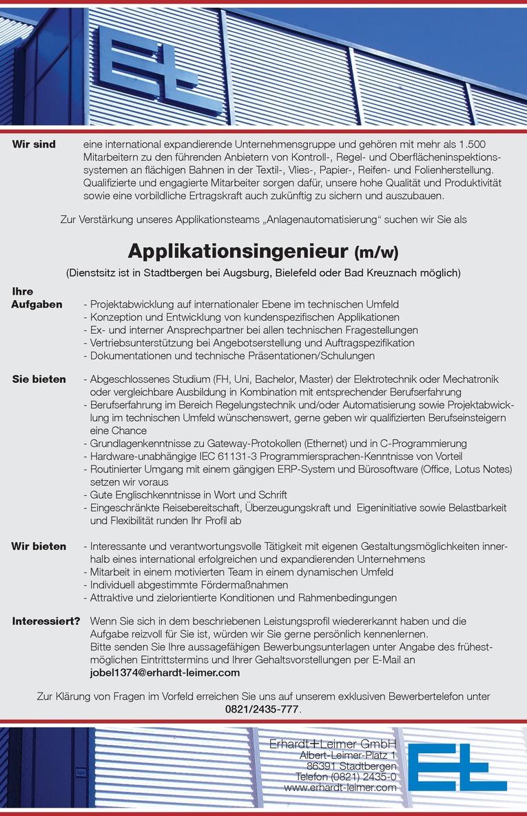 Applikationsingenieur (m/w)