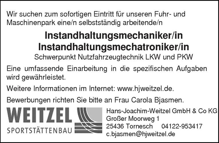 Instandhaltungsmechatroniker/in