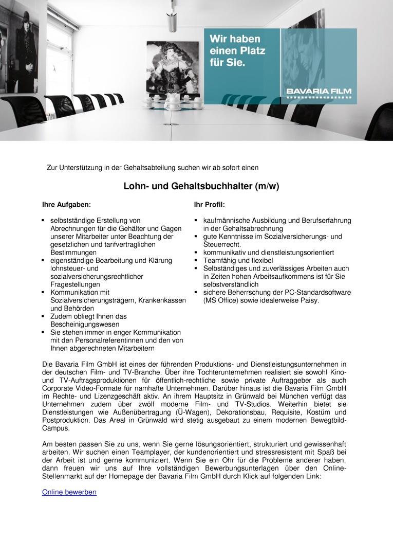 Lohn- und Gehaltsbuchhalter (m/w)