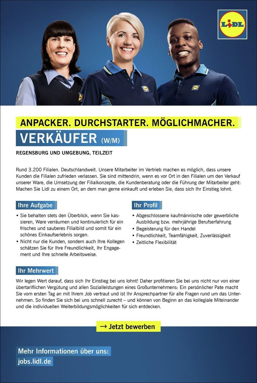 Verkäufer (w/m) in Teilzeit, Regensburger Str. 47