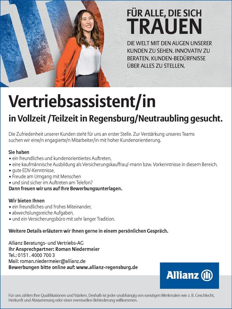 Vertriebsassistent/in in Vollzeit/Teilzeit gesucht!