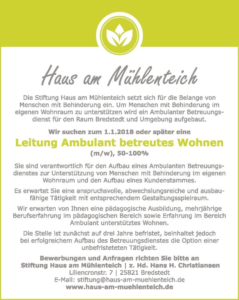 Leitung Ambulant betreutes Wohnen (m/w)