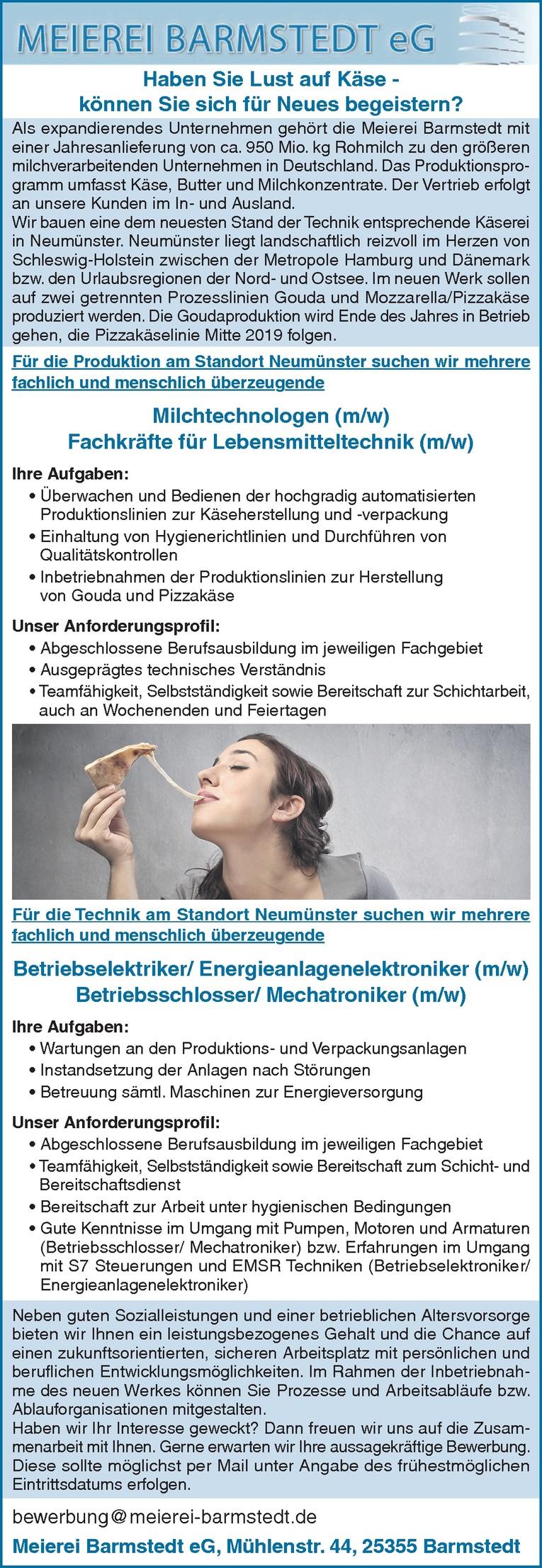 Milchtechnologen (m/w)