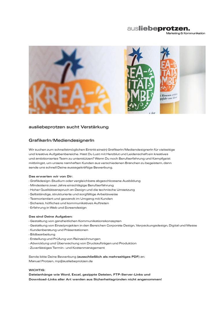 GrafikerIn / MediendesignerIn