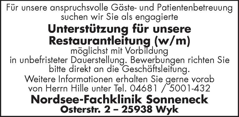 Unterstützung für unsere Restaurantleitung (w/m)