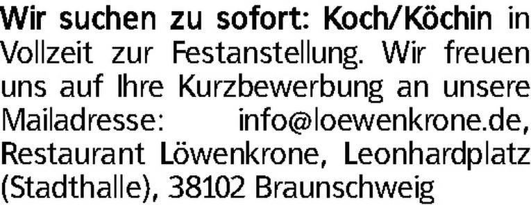 Koch (m/w)