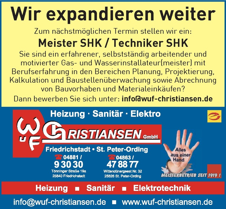 Meister SHK / Techniker SHK