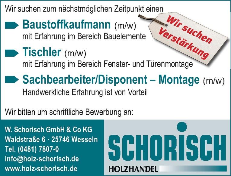 Sachbearbeiter/Disponent – Montage (m/w)