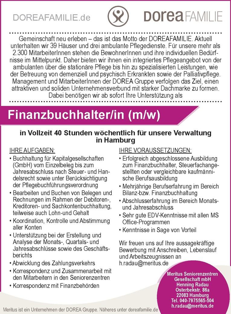 Finanzbuchhalter/in (m/w)