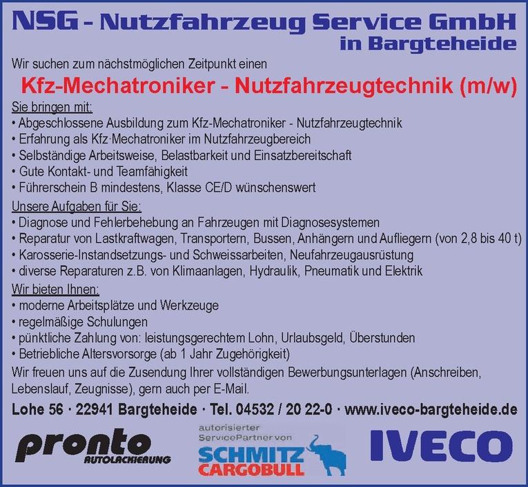 Kfz-Mechatroniker - Nutzfahrzeugtechnik (m/w)