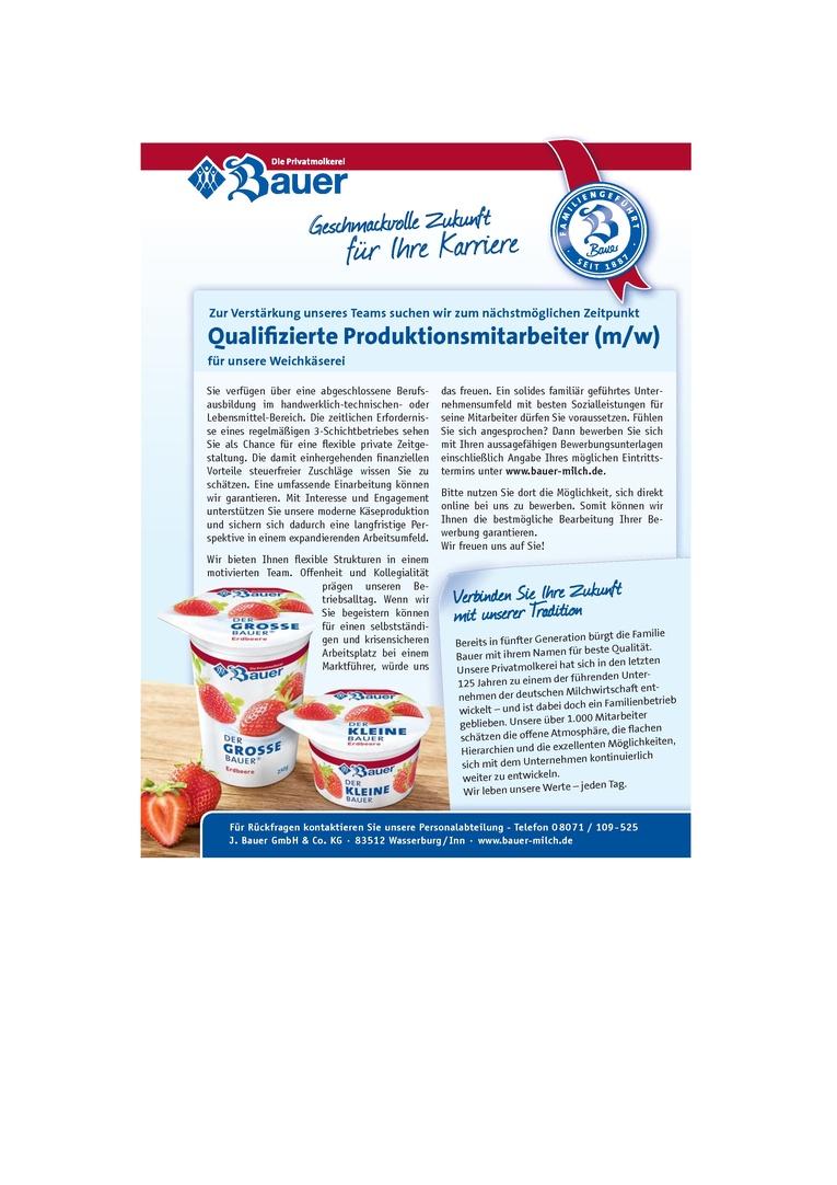 Qualifizierte Produktionsmitarbeiter (m/w)